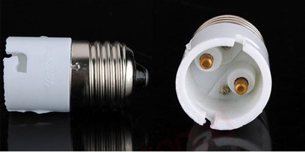 E27 To B22 Fitting Light Lamp Bulb Adapter Converter
