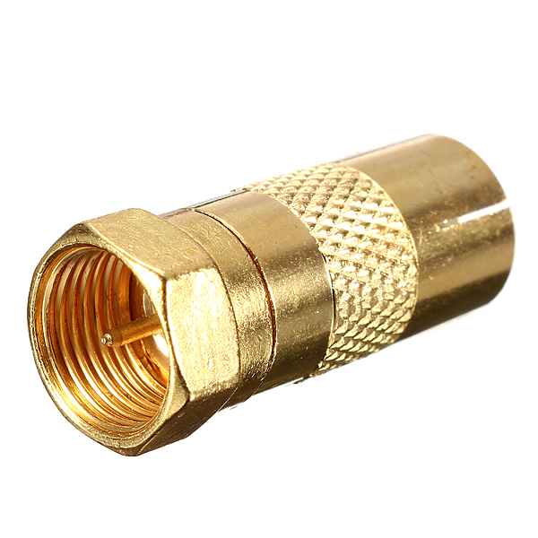 Gold Plated F Male Plug To TV Aerial Female Socket Adapter RF Coaxial