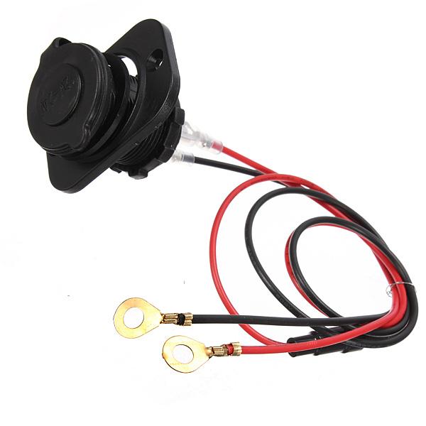 12V-24V Universal Motorcycle Car Tractor Power Socket Plug Mounting Panel