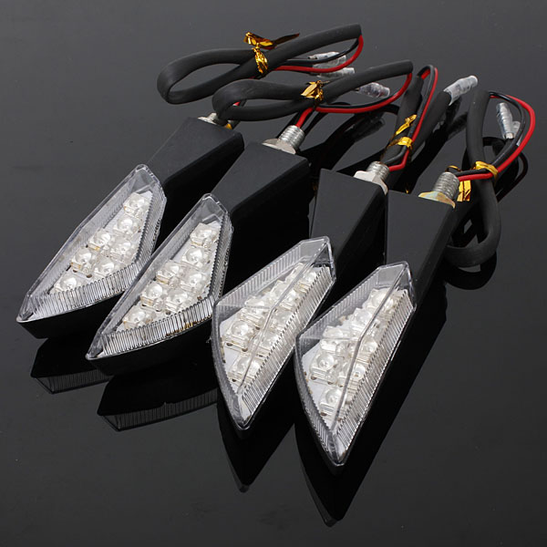 7 LED Amber Universal Motorcycle Turn Signal Light Lamp