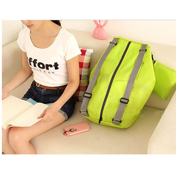 Girl Nylon Foldable Travel Shoulder Storage Bag Schoolbag Backpack