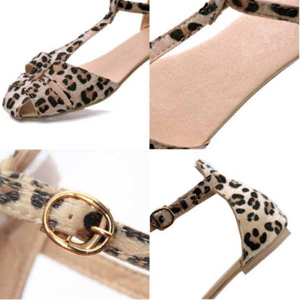 Sandals Shoes Leopard Flat Heel Flip Flops