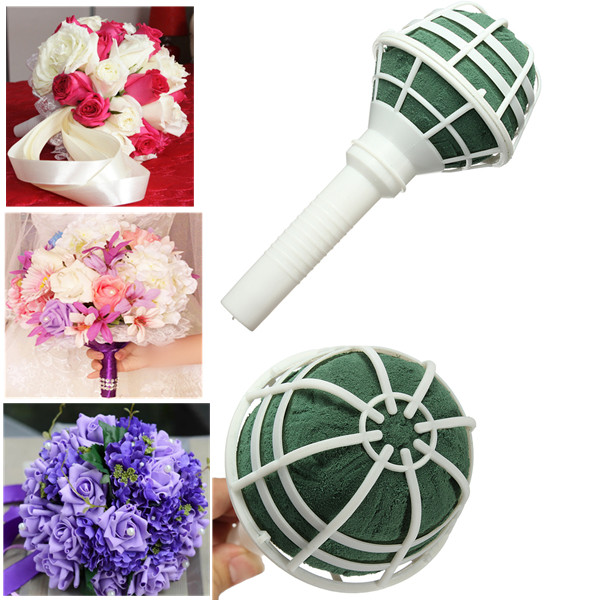 Foam Bouquet Holder Handle Bridal Floral Wedding Flower Holder DIY