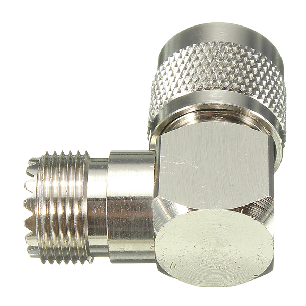 90 Degree UHF Plug Male PL259 to SO239 Female Jack Adapter Connector
