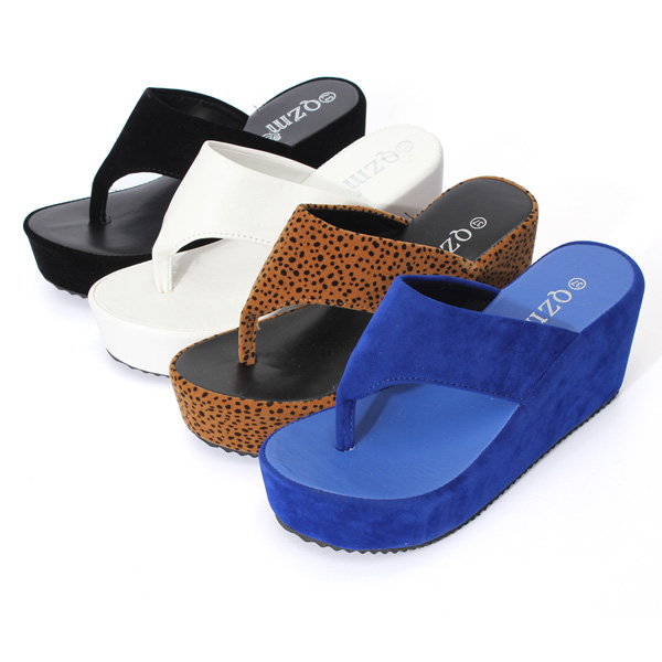 High Platform Wedge Heels Shoes Thong Flip Flop Slipper