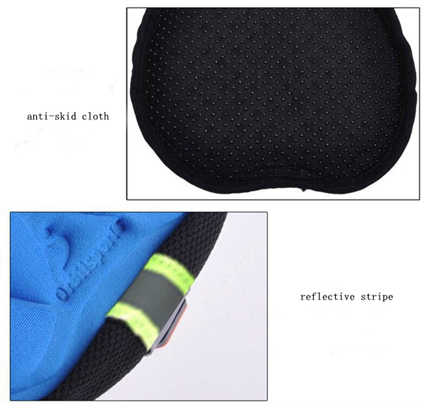 Bicycle Saddle Cover Bike Seat Cushion 3D Silicone Lycra Nylon Gel Pad
