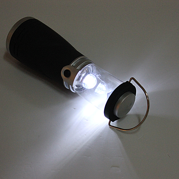 4 LED Wind Up Rechargeable Lantern Lamp Torch Light For Camping