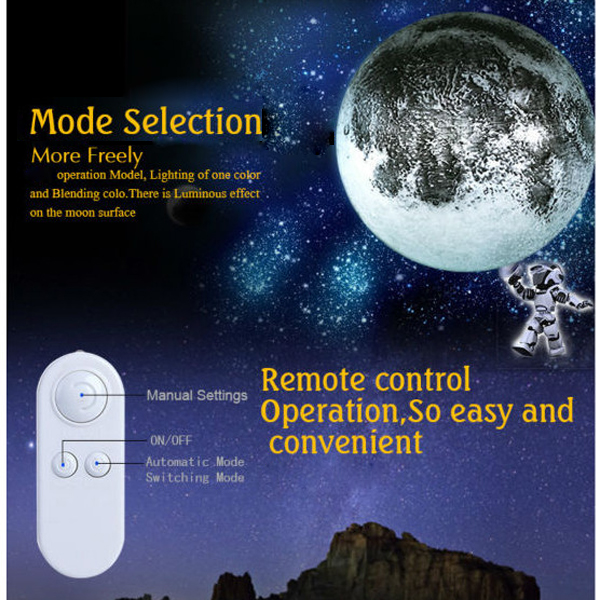 Novelty LED Healing Moon Wall Light Night Light With Remote Control