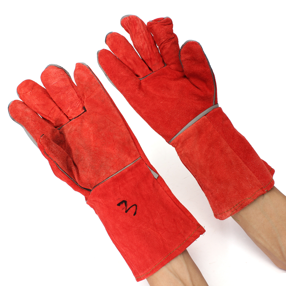 Welding Gloves Cowhide Electric Leather Welding Protective Gloves