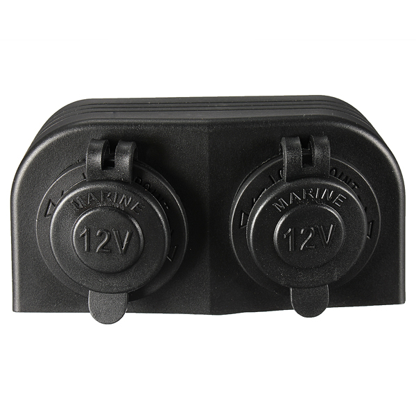12/24V Water Resistant SurfacE-mount Dual Cigarette Power Socket