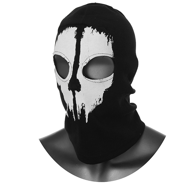 Call Of Duty Cosplay Black Ghost Skull Motorcycle Ski Face Mask