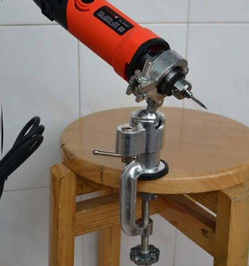 Universal Mini Clamp On Bench Vise Grinder Holder Electric Drill Stand