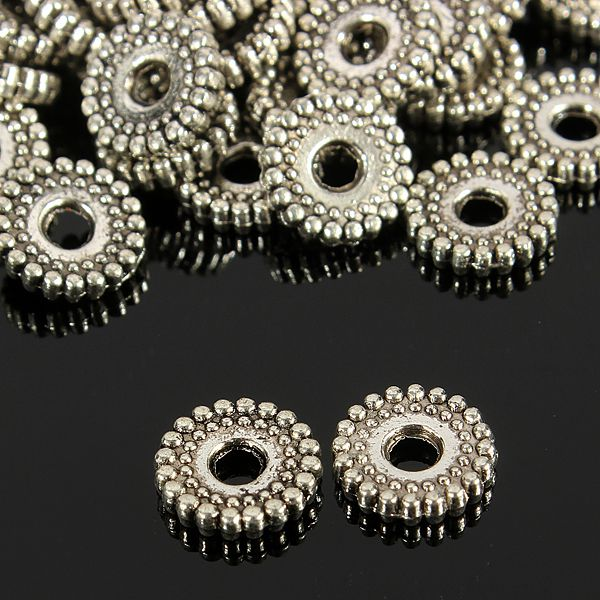 100Pcs Tibetan Silver Spacer Beads Jewelry Findings Making