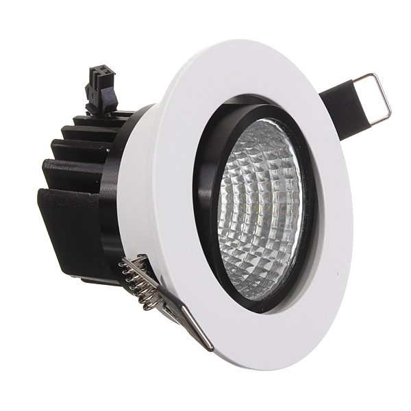 6W Dimmable COB LED Recessed Ceiling Light Fixture Down Light 110V