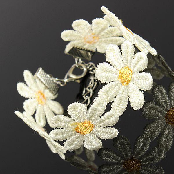 Dentelle guirlande de fleurs tatouage bracelet collier ...