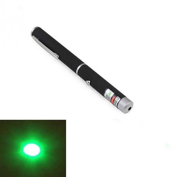 XANES GD14 Pen Shape 532nm 1-Pattern Green Light Laser Pointer + AAA Rechargeable Battery