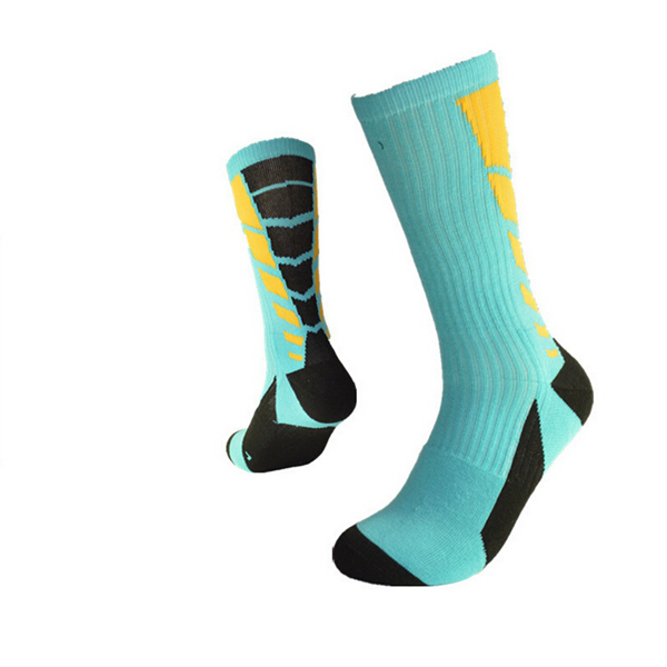 Mens Colorful Professional Outdoor Sport Breathable Long Basketball Socks
