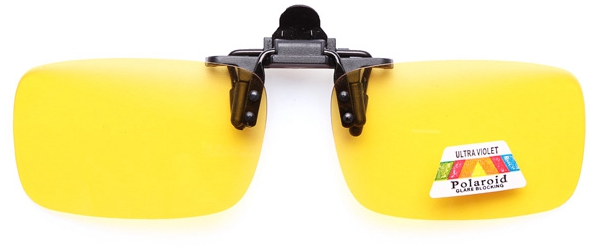 Clip-on Flip Up Sun Glassess Night Vision Glasses Lens