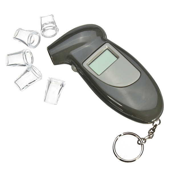 Digital Key Chain Alcohol Breath Analyze Tester Breathalyzer Detector