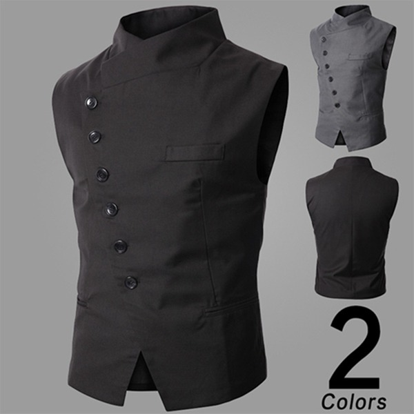Men's British Style Waistcoat Business Casual Slim Pony Clip Suit Vest