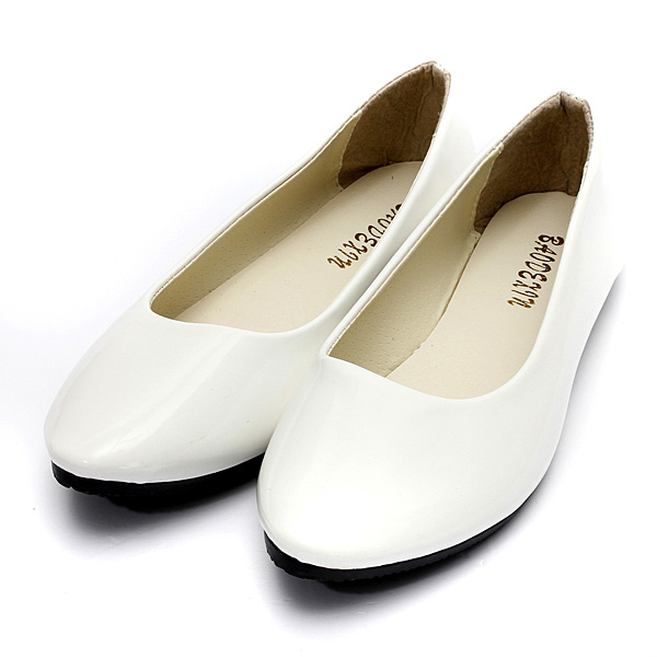 Women's Flat Pumps Womens Ballerina Slip On Dolly Ballet Shoes Slipper