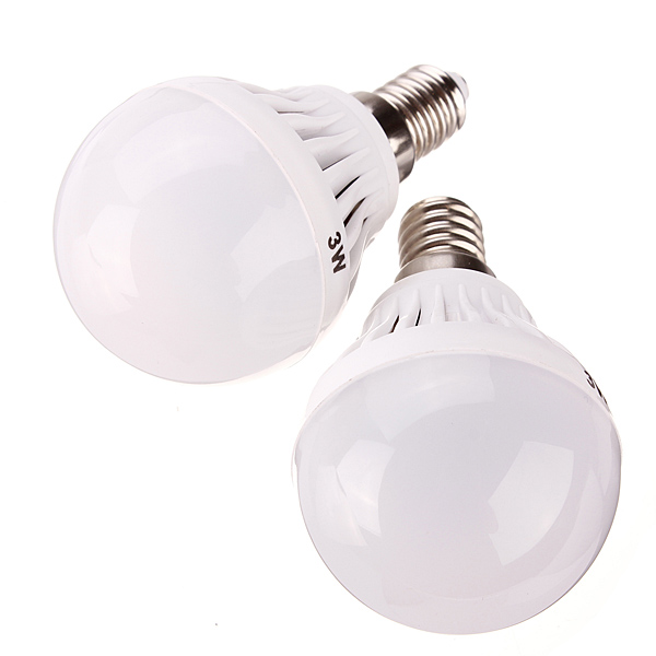 E14 3W White/Warm White 3014 SMD 9 LED Globe Light Bulb 220-240V