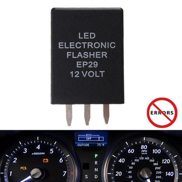 EP-29 LED Flasher Relay Flash Turn Signal Decoder Load Equalizers