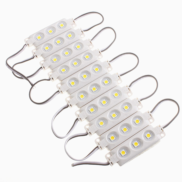 10pcs Molding Waterproof 3LED 5050 SMD Module Light White/Warm White