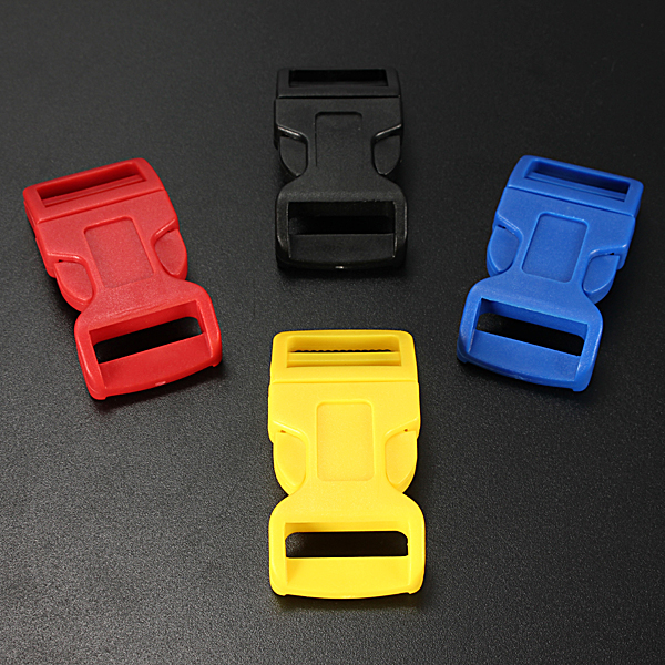 Plastic Contoured Side Release Buckles Belts for Paracord Bracelet