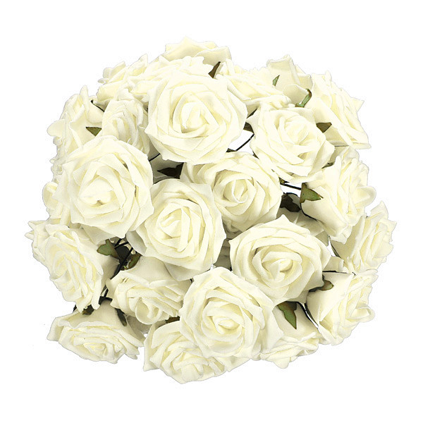 50X Foam Artificial Flower Wedding Party Bridal Bouquet Decor DIY