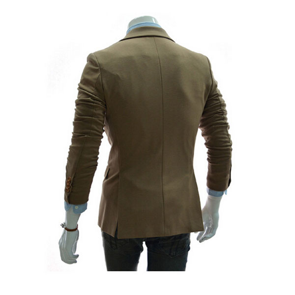 Mens Fashion Suits Slim Casual Solid Color One Button Fit Business