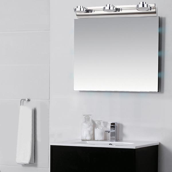 Modern 9W Stainless Steel LED Mirror Lamp Bathroom Wall Light