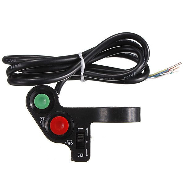 Motorcycle Atv Pit Bike Horn Lights Turn Signals Switch On/off Button