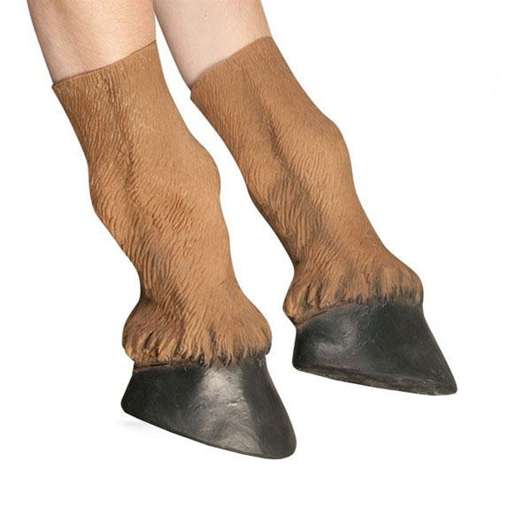 Adult Latex Horse Hooves Halloween Costume Gloves Prop