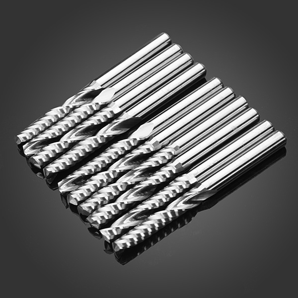 10pcs Single Flute CNC Milling Cutters Carving Machine Tool Parts
