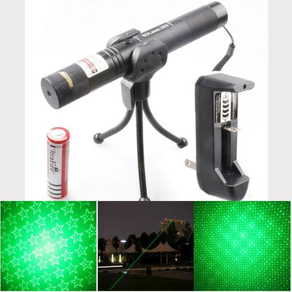 Adjustable Focus Stars 532nm Green Beam Laser Pointer Suit(1mw,5mw)