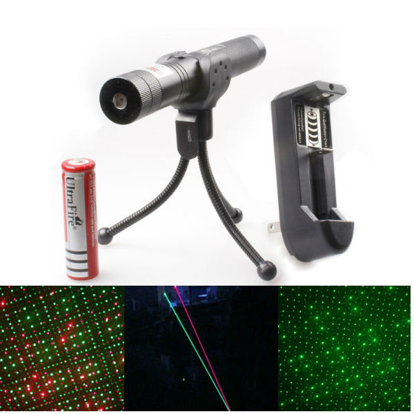 Adjustable 532nm 650nm Green Red Beam Laser Pointer Suit