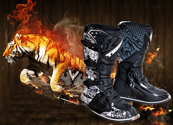 MotorcyclE-mountain Bicycle Racing Boots Shoes for ZLK T7 Black