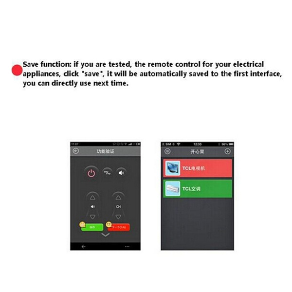 Wireless Home Appliances Smart Remote Control For Mobile Phone