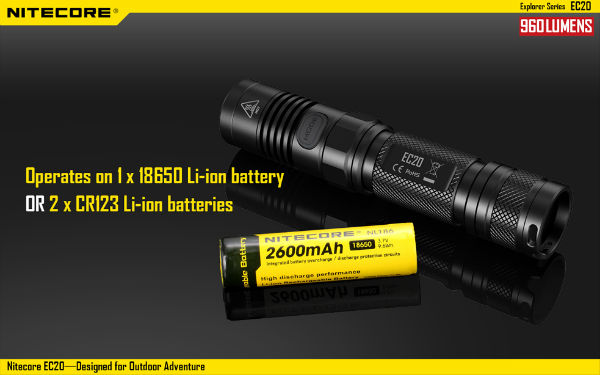 NITECORE EC20 L2 T6 960LM Outdooors Adventure LED Flashlight