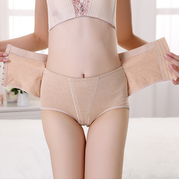 High Waist Embroidery Women Slimming Body Corset Control Shaper Brief