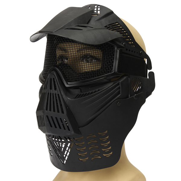 Biker Full Mask Paintball Tactical CS Airsoft Face Protection Guard