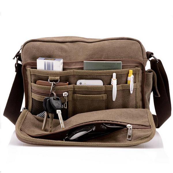 a50f7bd7765d Men s Multifunction Canvas One-shoulder Business Casual Bag - US 66.37