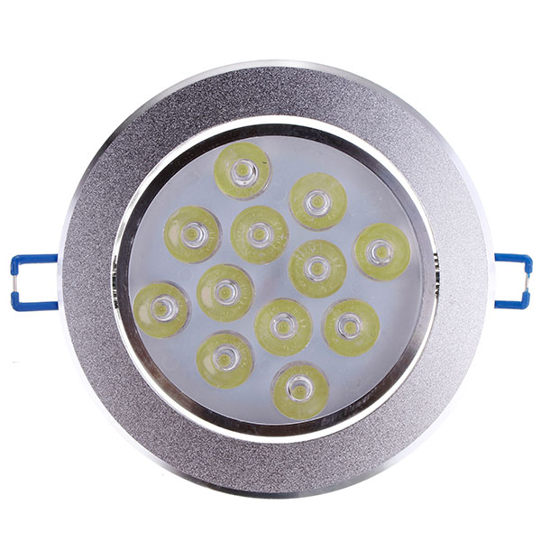 12W Dimmable Bright LED Recessed Ceiling Down Light 85-265V