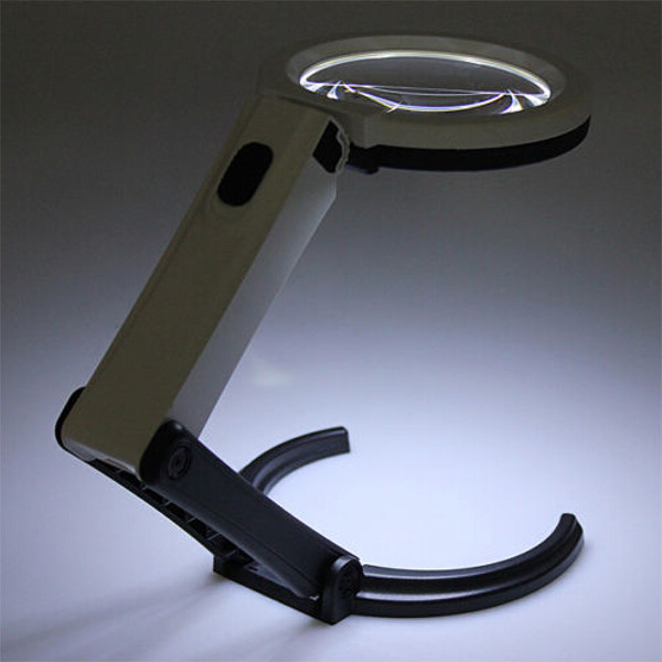 10 LED Lighting Desk Handheld Lamp With 1.8X 5X Magnifier