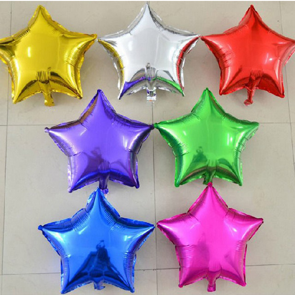 Star Foil Helium Balloons Birthday Wedding Party Supplies Decors