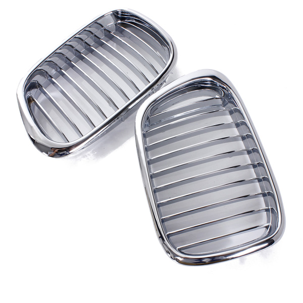 Plated Chrome Front Hood Kidney Grille Insert For BMW5 SeriesE39 97-03