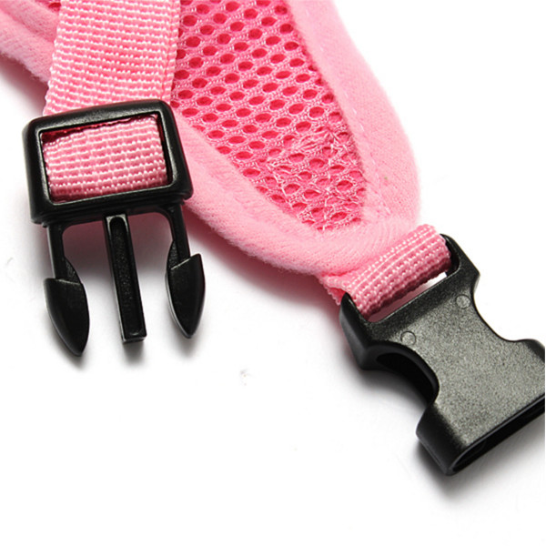 Pet Dog Cat Polka Dots Dotted Adjustable Soft Mesh Harness Net Leash Collar Seperated