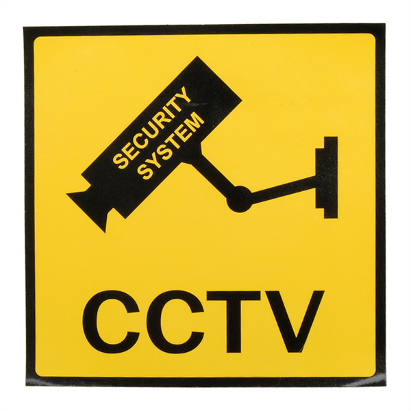 12 x 12cm Monitoring Security Cameras CCTV Warning Sign
