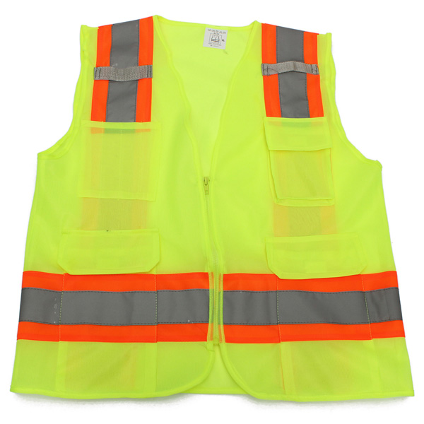 Motorcycle Yellow Safety Waistcoat Warning Reflective Stripes Vest